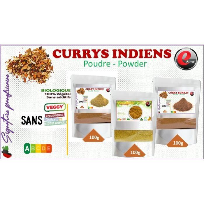 Trio découverte curry indien- sélection panafricaine - 3x100g