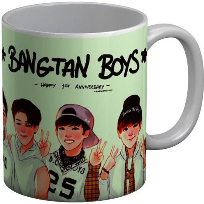 Mug Céramique BTS Happy 1st Anniversary Jimin Kpop Stars Coree