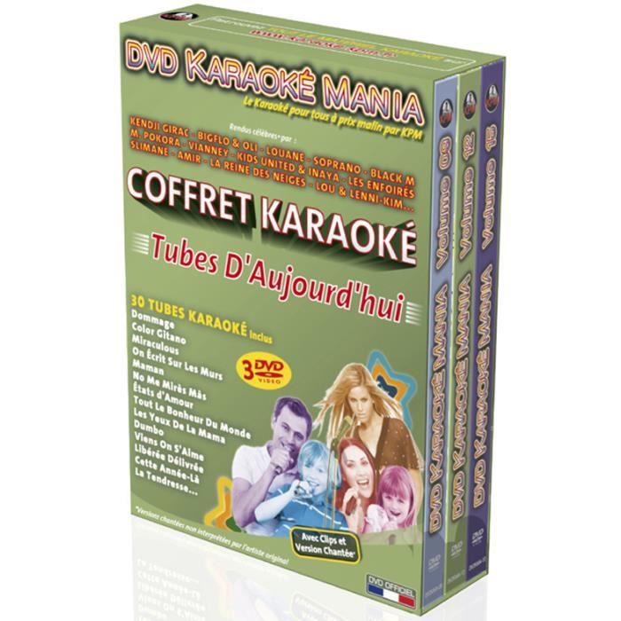 Coffret 3 DVD Karaoké Mania -Tubes D'Aujourd'hui-