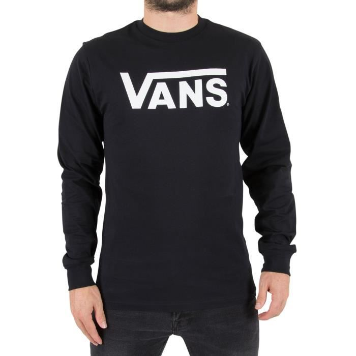 Vans Homme T-shirt Classic Longsleeved Logo, Noir