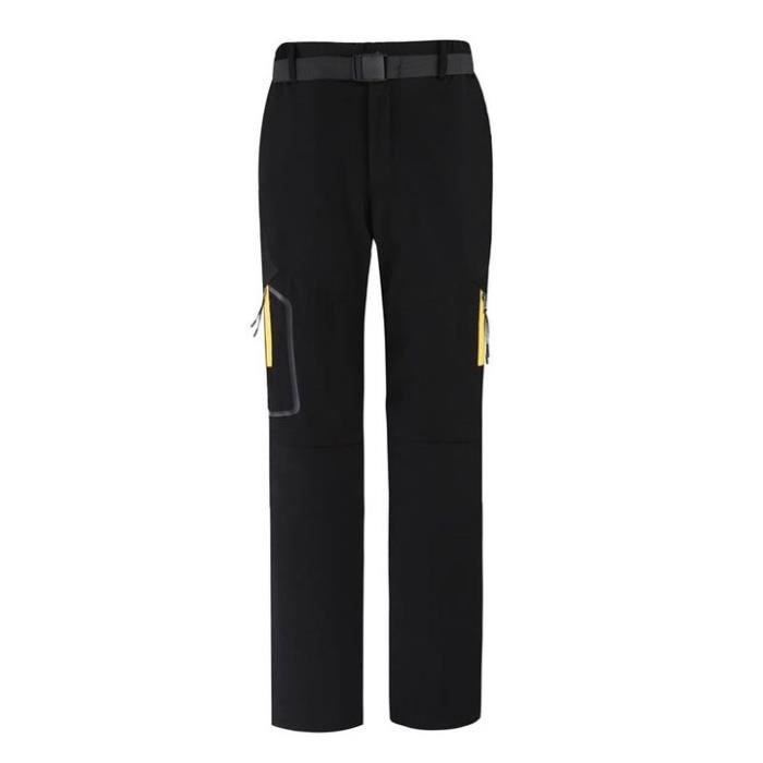 Pantalon de Softshell Femme Mi Saison Imperméable Séparable Pantalon Randonnée Femme Printemps