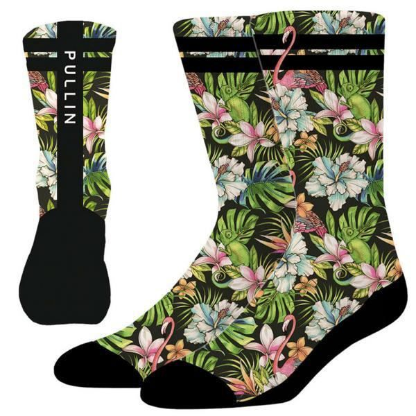PULL IN Chaussettes Homme Microcoton CAMOFLOWER Vert Noir