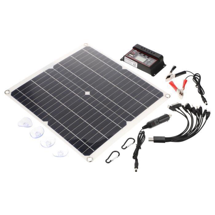 1 SET EFFICACE PANNEAU SOLAIRE EQUIPEMENT DE CHARGEMENT kit photovoltaique - kit solaire genie thermique - climatique - chauffage