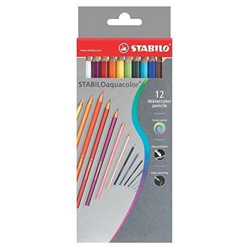 Crayons Stabilo couleur dans Carton Aquacolor 2,8 mm de 6 ans 1612-3 (paquet de 12)