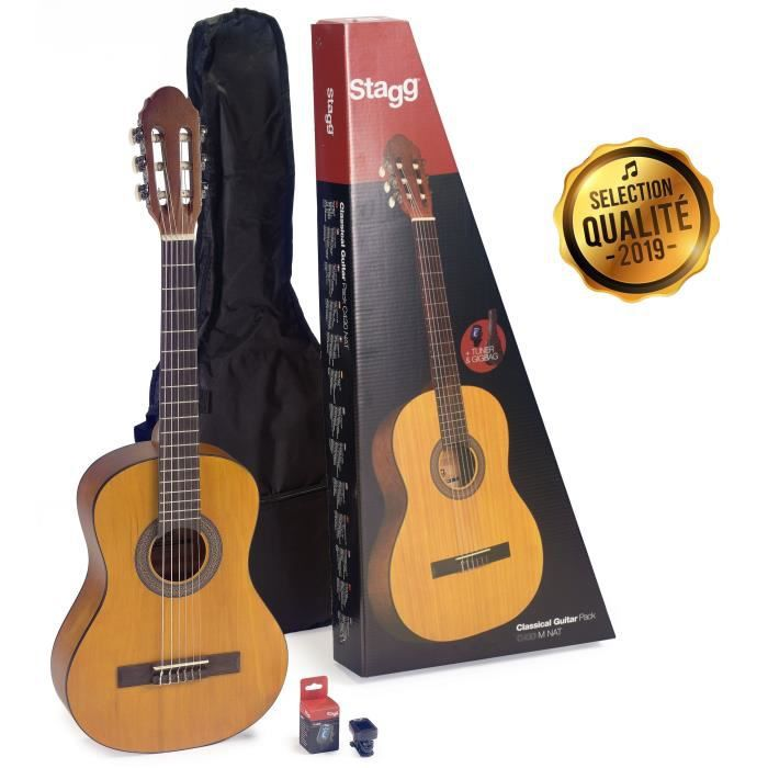 STAGG Pack Complet Guitare Classique C440 PACK 4/4 Naturel