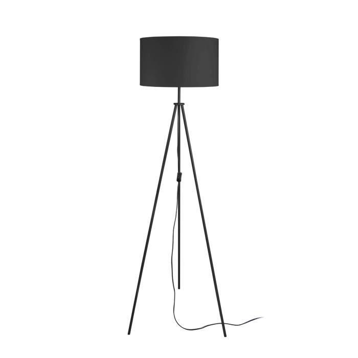 ASGARD Pied de lampadaire en acier - Ø35 x H148 cm - Noir