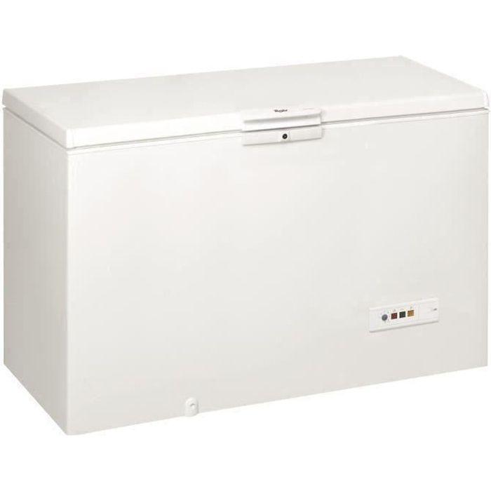 WHIRLPOOL WHM39111 - Congélateur coffre - 390L - Froid statique - L 140,5 x H 91,6 cm - Blanc