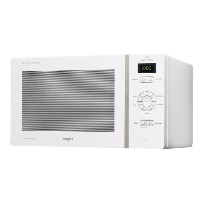 Whirlpool MCP 344 WH - Four micro-ondes grill - pose libre - 25 litres - 800 Watt - blanc