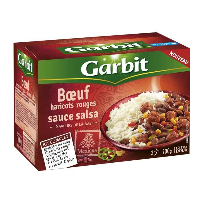 WILLIAM SAURIN Bœuf Haricots Rouges Sauce Salsa Garbit - 700 g