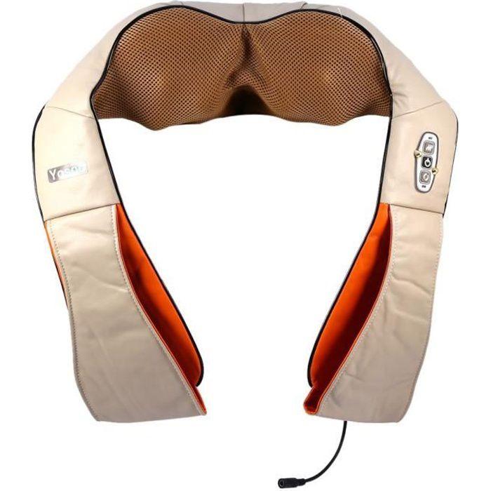Coussin Chauffant de Traction R/églages de Chauffage /à 3 Niveaux Coussin De Traction Cervicale Appareil de Traction Cervicale pour Soulager Douleur au Cou Coussin de thermoth/érapie