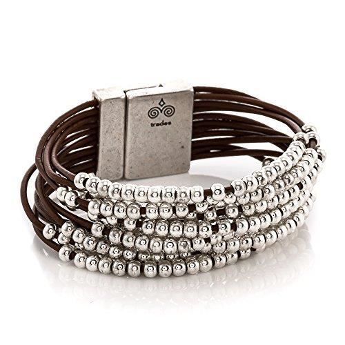 Womens Candice Leather Bracelet J7M0K