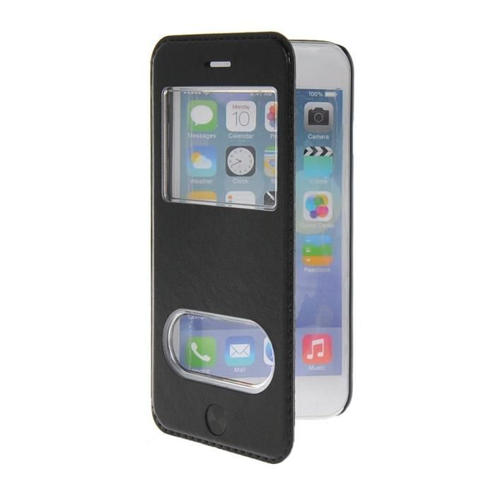 Coque en cuir portefeuille housse de protection tui for Coque iphone 6 portefeuille