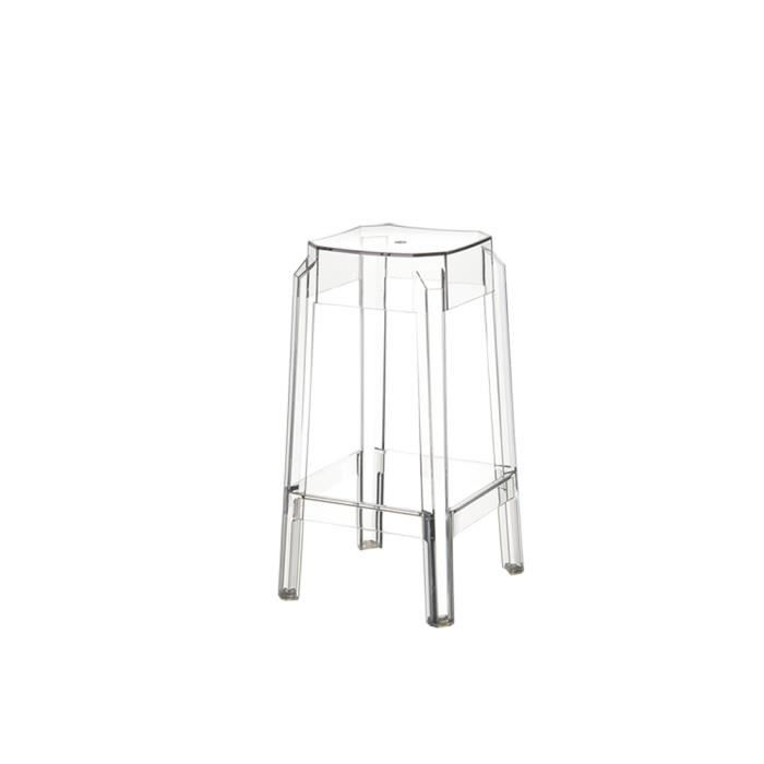 tabouret bar plexi luka transparent achat vente tabouret de bar soldes d t cdiscount. Black Bedroom Furniture Sets. Home Design Ideas