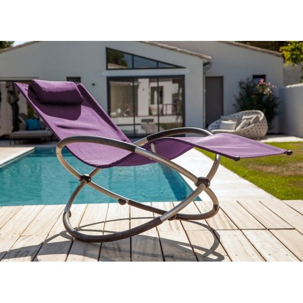 relax basculant cassis achat vente chaise longue