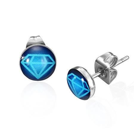 boucles d 39 oreilles saphir bleu images. Black Bedroom Furniture Sets. Home Design Ideas