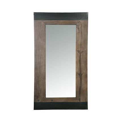 miroir rectangulaire en bois naturel bi couleur achat vente miroir bois cdiscount. Black Bedroom Furniture Sets. Home Design Ideas