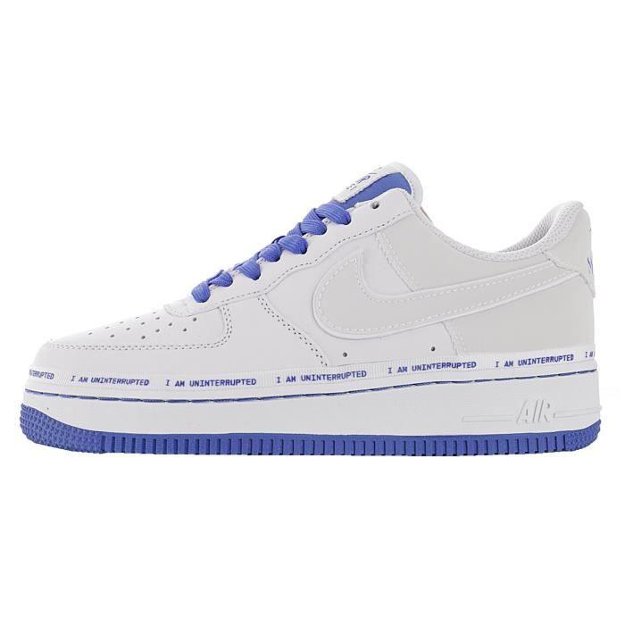 Baskets Nike Air Force 1 Femme et Homme Bleu Bleu - Cdiscount ...