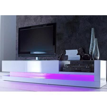 meuble tv led multicouleurs blanc laqu gaylord achat. Black Bedroom Furniture Sets. Home Design Ideas