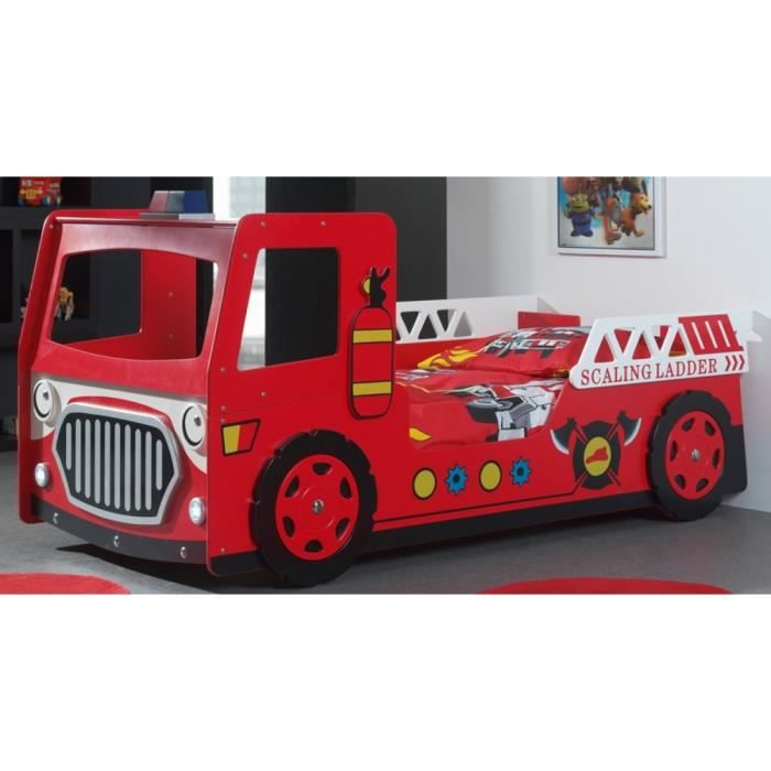 lit complet fun lit enfant camion pompier rouge with alinea camion. Black Bedroom Furniture Sets. Home Design Ideas