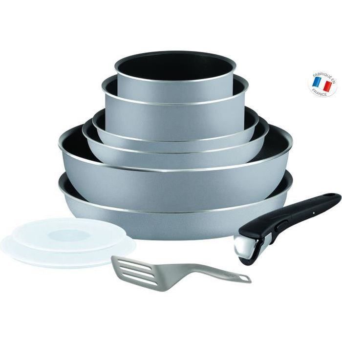 Tefal ingenio essential batterie de cuisine 10 pi ces - Batterie cuisine tefal ingenio induction ...
