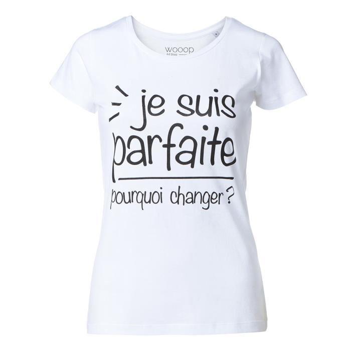 t-shirt femme message