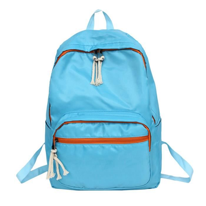 School Bl13080 Nylon Pure Travel Students Color couple Backpack Tote Bag Coierbr Shoulder w40AHA
