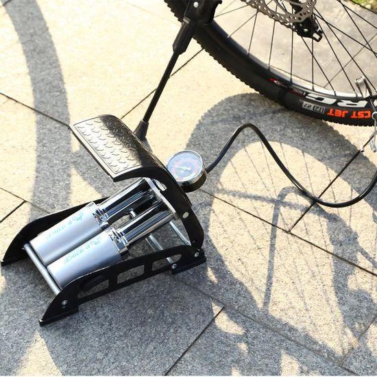 Pompe à pied double cylindre Heavy Duty Bicycle Moto Qualité 1379