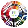 50x broderie couleur écheveau fil coton point de croix tresse Craft Sewing