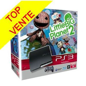 JEU PS3 PS3 Slim 320Go Little Big Planet 2+ Blu-Ray offert