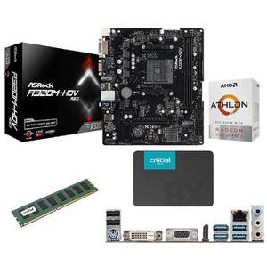 PACK COMPOSANT  Kit évolution PC - Carte mère + Processeur + 4 Go
