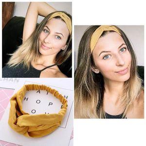BANDEAU - SERRE-TÊTE 1Pcs Bandeau cheveux femme couleur unie vintage el