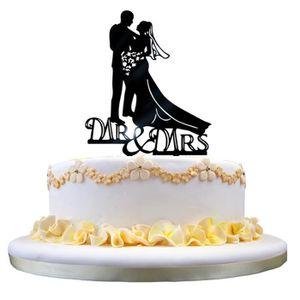 D/écoration pour g/âteau Tinksky /«/Mr Mrs//» en forme de c/œur f/êtes D/écoration de mariage