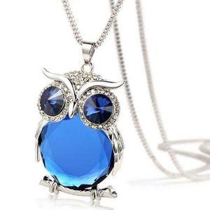 SAUTOIR ET COLLIER Femmes Owl Pendentif diamant chandail chaîne bijou
