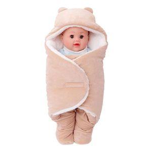 COUVERTURE - PLAID BÉBÉ Sac de couchage bébé Couverture chaude Siez S Brun