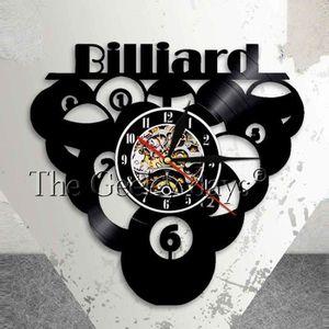 Boule De Billard Piscine Vinyle Horloge Horloge Record Sport
