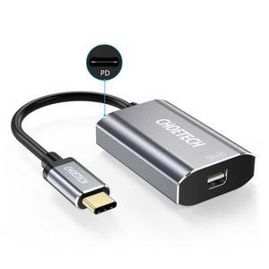 ADAPTATEUR AUDIO-VIDÉO  CHOETECH Adaptateur USB Type C vers Mini Displaypo
