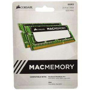 MÉMOIRE RAM Corsair CMSA8GX3M2A1333C9 Apple Mac 8GB (2x4GB) DD