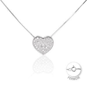 collier argent pendentif coeur