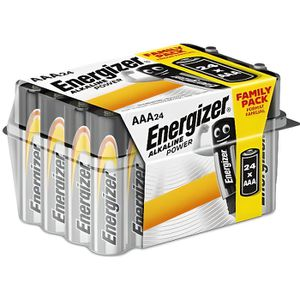 PILES 24 x Energizer piles alcalines AAA LR03 batterie
