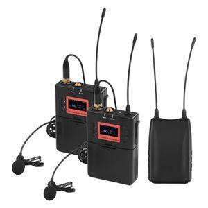 BIBLIOTHÈQUE  Système de microphone sans fil Lavalier Double éme