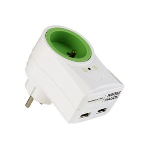 PARAFOUDRE-SURTENSEUR Prise WATT AND CO 2USB 2100 mA