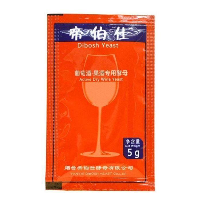 Levure de vin fait maison 5g pour 25Kg, poudre de levure réduisant l'acide du vin, brassage à domicile, alcool de [3EC8575]