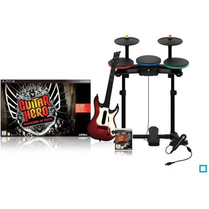 PACK ACCESSOIRES-JEUX SUPER PACK GUITAR HERO Warriors of Rock / Jeu cons