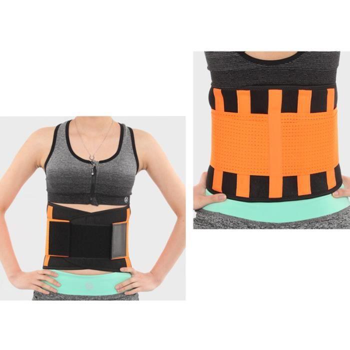 DoringIN-Ceinture de Force,Ceinture corset,120*23cm Orange-Ceinture lombaire, soutien dorsal inférieur Ceinture-Pour Fitness Sports