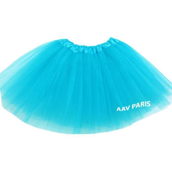 Tutu de Ballet Danse Soirée Jupe Jupon pour filles - taille unique – bleu turquoise
