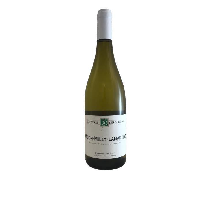 Mâcon Milly Lamartine 2018 Domaine Anguenot -75 cl - Vin Blanc AOP de Bourgogne - Cépage Chardonnay