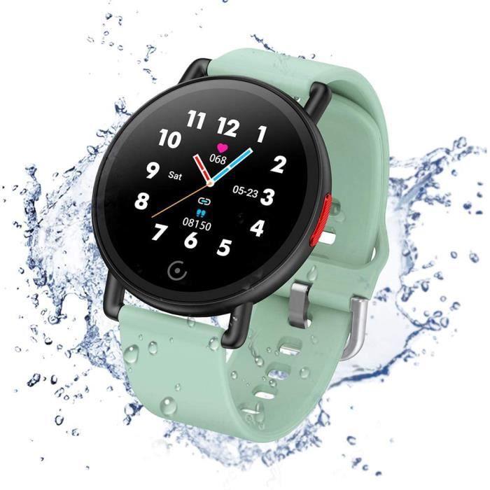 Smartwatch IP68 Montre Connectée Fitness Tracker Watch Sport Podometre Cardiofréquencemètre Montre de Sommeil pour Enfants Fem410