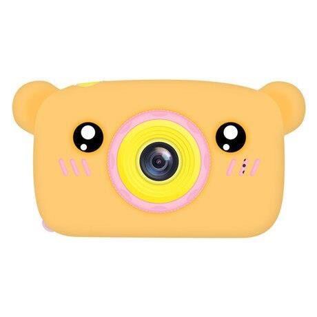 Appareil photo enfant,Bébé jouets 0 12 mois dessin animé appareil photo numérique enfants créatif jouet éducatif - Type Orange bear