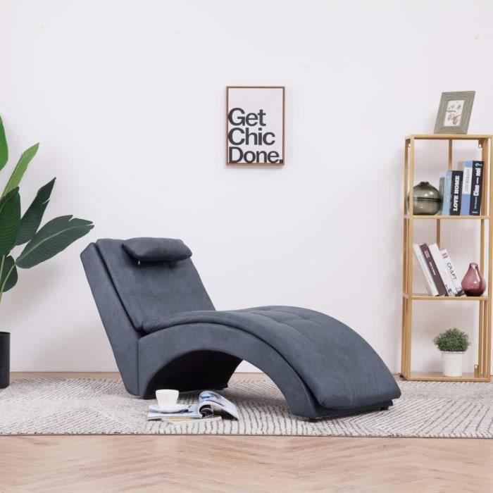 PRO-5873Parfait Chaise longue Méridienne Scandinave & Confort - Chaise de Relaxation Fauteuil de massage Relax Massant avec oreiller