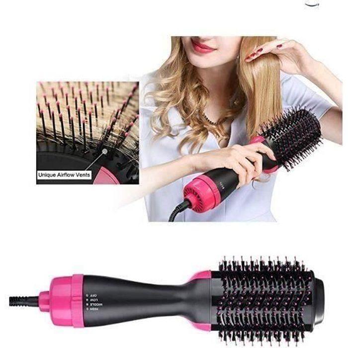 2 en 1 Brosse Soufflante Rotative, One Step Sèche-Cheveux Brosse à Cheveux Electrique Multifonctionnels fer à friser